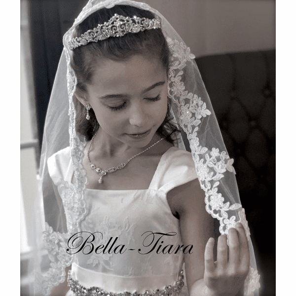 Eliana- Swarovski Crystal communion tiara<br/>Italian collection