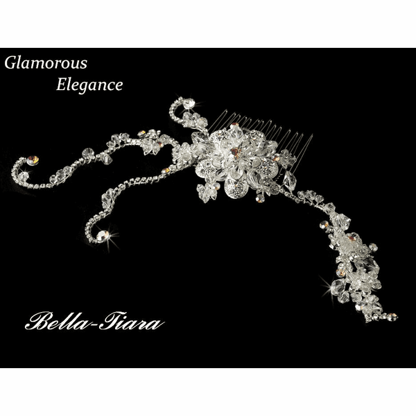 Eliora - COUTURE CRYSTAL GLAMOROUS Bridal Hair Comb