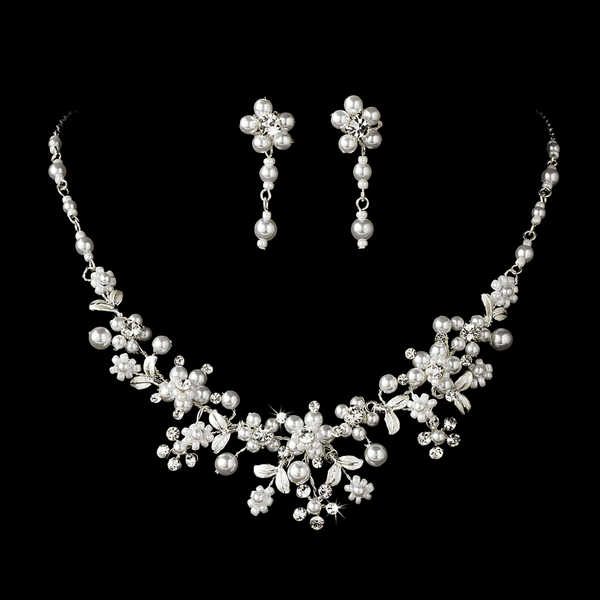 Enchanting Silver Pearl Jewelry Set