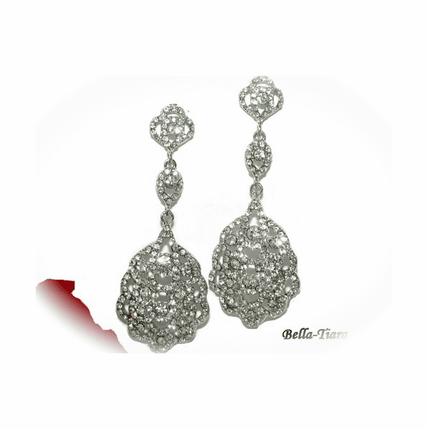 Francine - Victorian Bold rhinestone drop bridal Earrings - 15% off use code (jewel15)