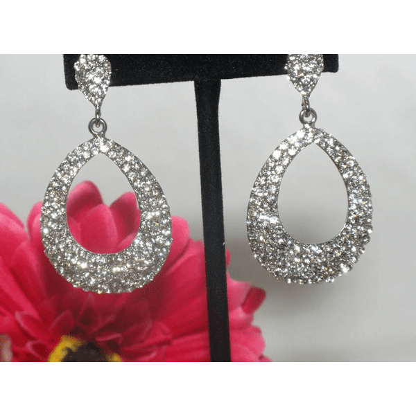 GLAM - Beautiful austrian crystal hoop earrings - SPECIAL!!
