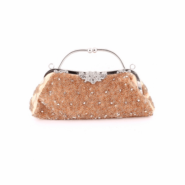 HOT!!  Vintage champagne beaded evening purse - few left Sale