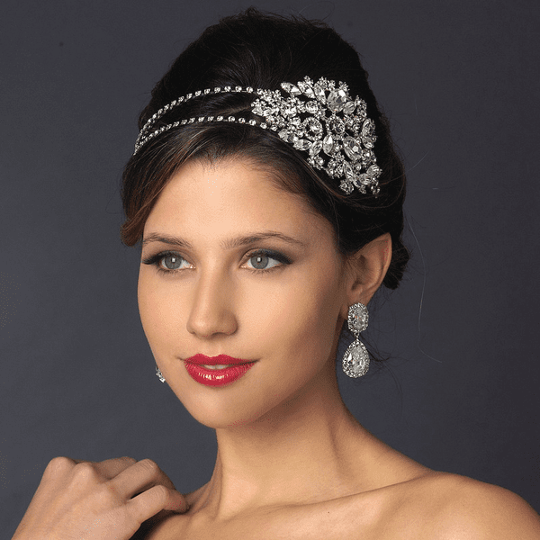 Italian Collection - Abrianna Swarovski crystal side headband - SALE