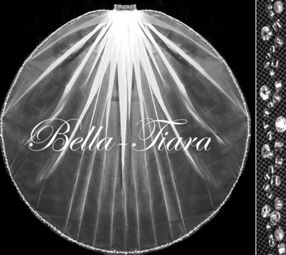 Italian Collection - Crystal and pearl communion veil (10% off) use code bella-10