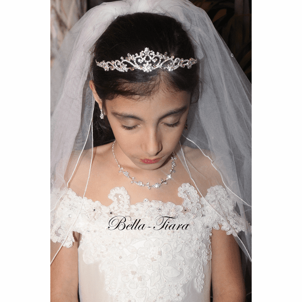 Isabella - Communion Crystal Tiara <br />Italian collection