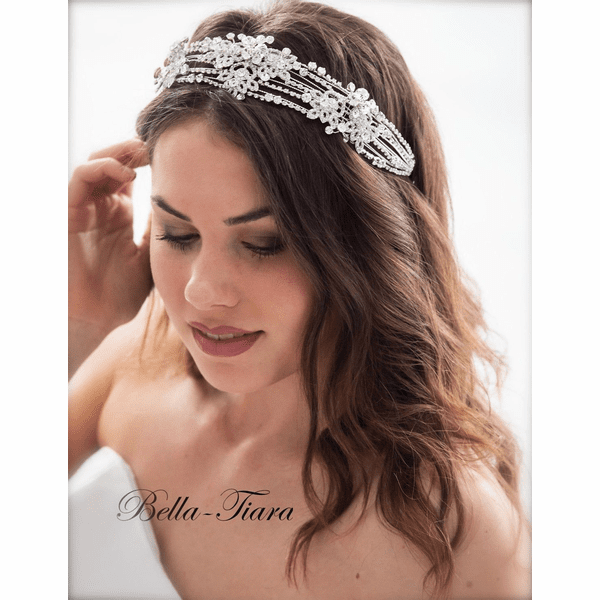 <h4>Krissa - SPECTACULAR Swarovki crystal headpiece</h4>Free Earrings or Bracelet