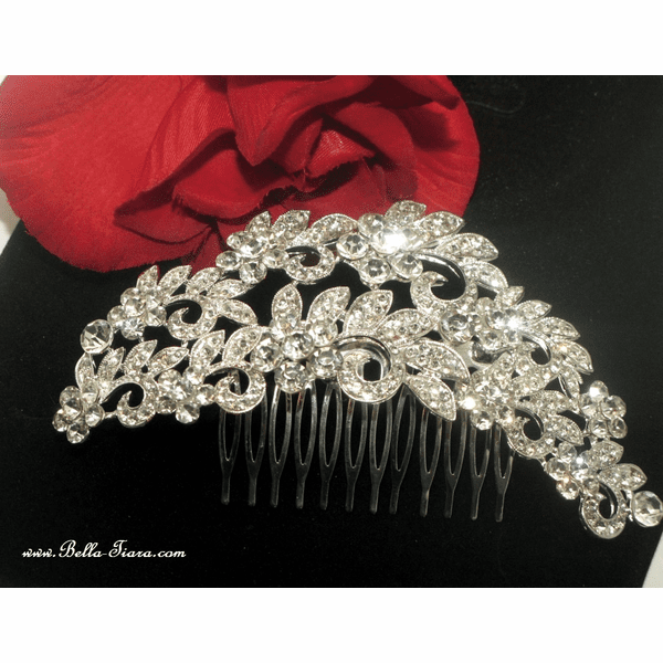 Liletta - Dramatic crystal rhinestone bridal hair comb - SPECIAL -out of stock