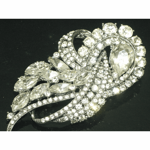 Loredana - STUNNING crystal bridal brooch - SPECIAL one left