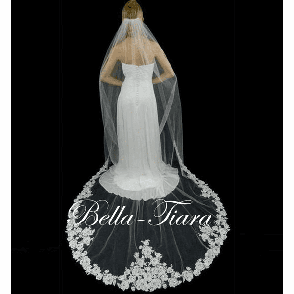 Lucy - Royal Collection romantic lace cathedral veil - SPECIAL