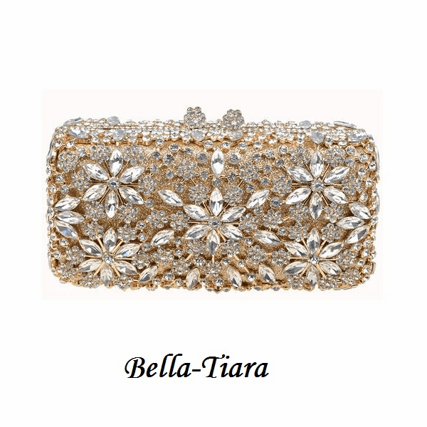 Majestic Gold & Silver Crystal Evening Clutch - SALE