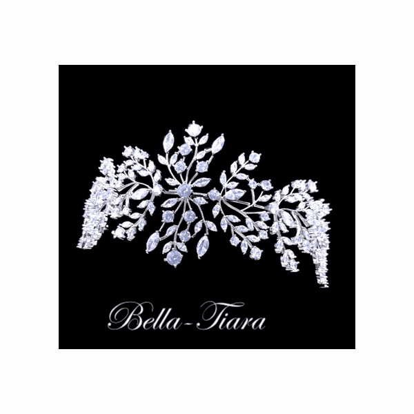 <h4>Marcella - Romantic and delicate wedding hairpiece </h4> Free Earrings or Bracelet