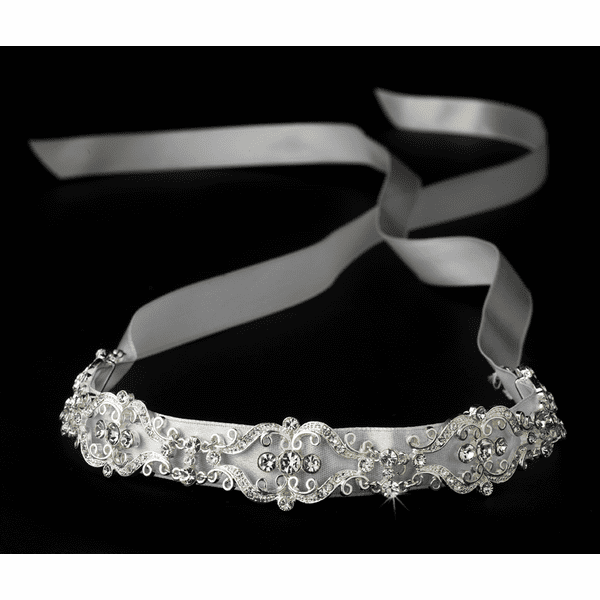 Monalisa - Vintage design ribbon style bridal headband - SALE