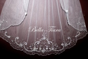 FREE BLUSHER crystal beaded cathedral veil - SPECIAL