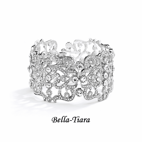 NEW! Beautiful Crystal Cuff prom wedding Bracelet - SALE