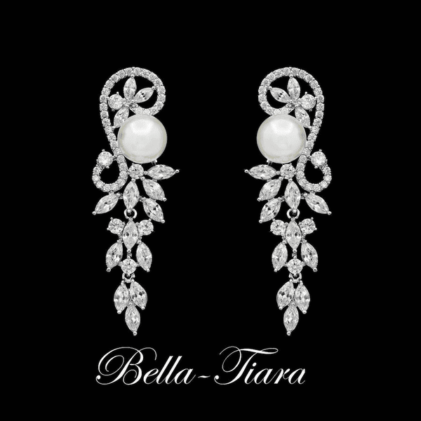 NEW! Exquisite Ivory Pearl Drop bridal Earrings -15% off use code (jewel15)