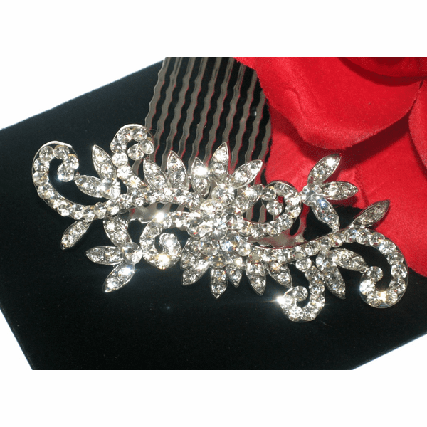 Notte - Dazzling Swirl rhinestone wedding hair comb - SPECIAL -