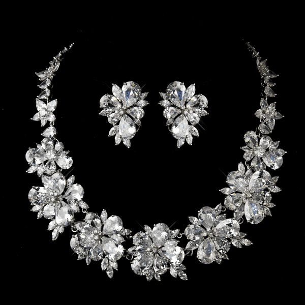 Princess Zaria - STUNNING CZ wedding necklace set - SALE - priced amazigly