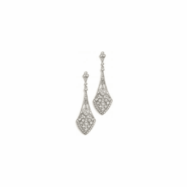 Rachel - Antique design CZ chandelier Bridal Earrings - SALE!!