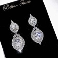 Rapunzel - Radiant Cubic Zirconia drop earrings - 15% off use code (jewel15)