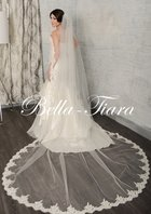 Romantic designer lace cathedral wedding veil