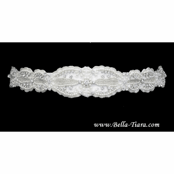 Romantica - Beautiful pearl beaded wedding sash - Special