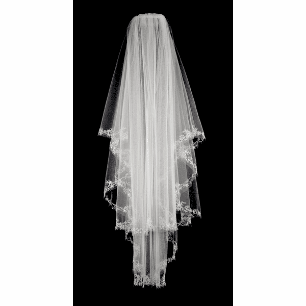 Royal collection - 2 tier beauty swarovski crystal wedding veil - SALE