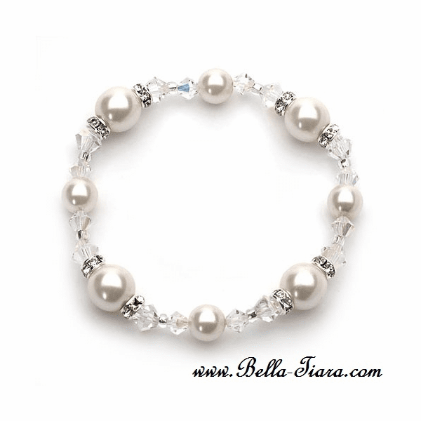 Sable - Elegant Swarovski crystal  and pearl wedding bracelet - SPECIAL