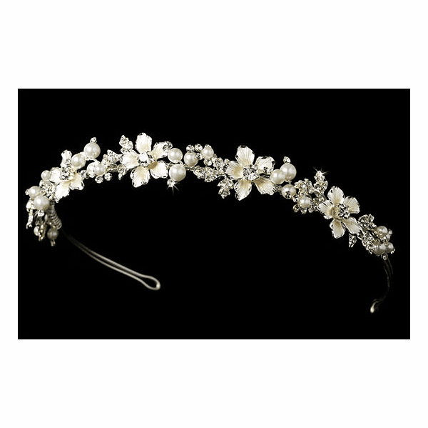 Sarabella-Beautiful rum pink champagne bridal headband - SALE