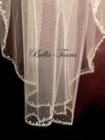 Sasha - Royal collection crystal beaded cathedral veil - 20% off use code (20veil)