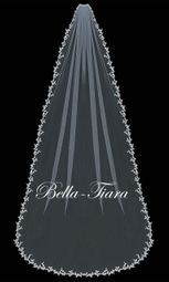 Serafina - crystal beaded lace cathedral veil - 20% off use code 20veil