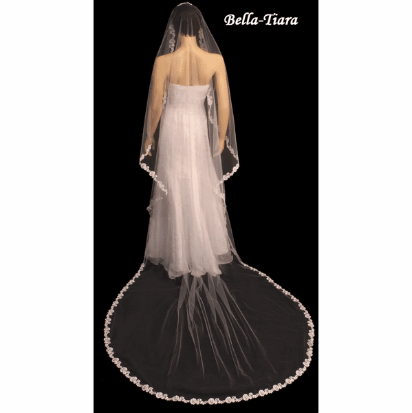SPECIAL - Beautiful Cathedral Lace Edge wedding Veil