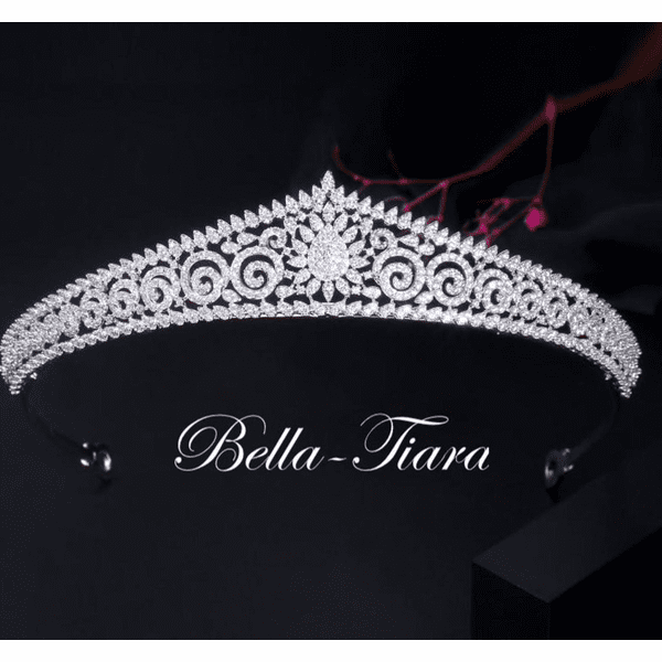 Stefania - Swarovski crystal communion tiara <BR />Italian Collection