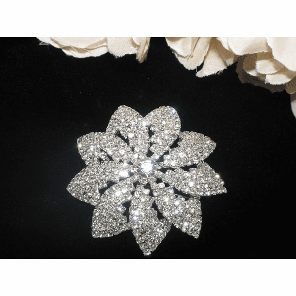 Stella - Beautiful sparkle bridal brooch - SALE!!