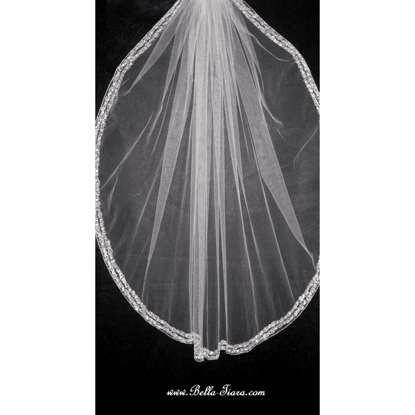 Tia - NEW!! Royal Collection - STUNNING Swarovski edge wedding veil - SALE