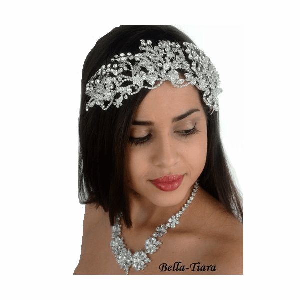<h4>Truebeauty - Royal collection dramatic Swarovksi crystal wedding headband</h4>Free Earrings or Bracelet