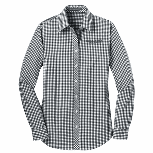 Ladies' Port Authority Long Sleeve Gingham Easy Care Shirt