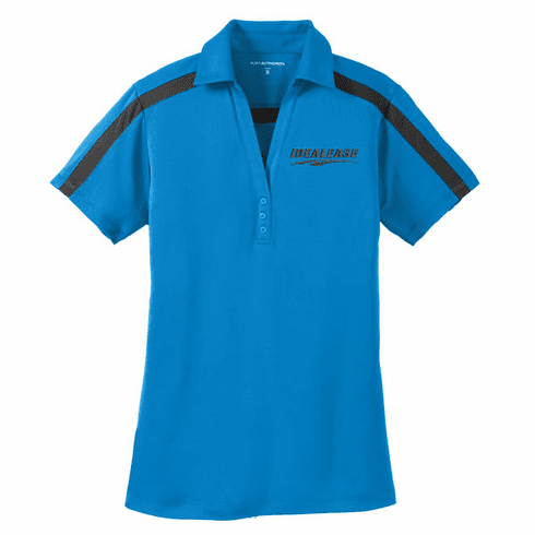 Ladies' Port Authority Silk Touch Performance Colorblock Stripe Polo