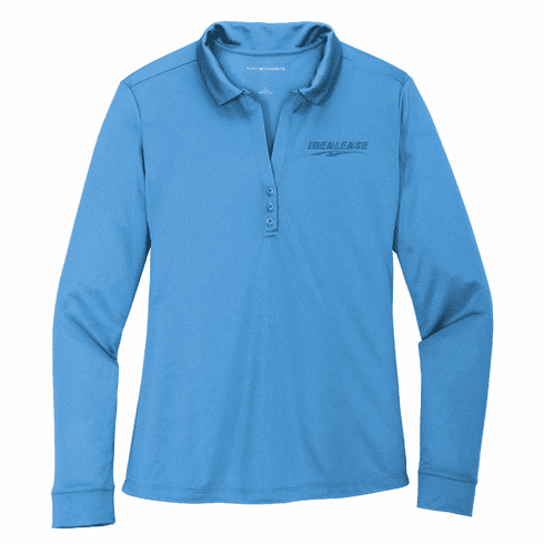 Ladies' Port Authority Silk Touch Performance Long Sleeve Polo