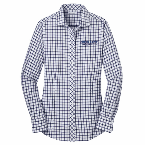 Ladies' Red House Tricolor Check Non-Iron Shirt