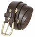 12 Gauge Shotgun Shell Full Grain Leather Belt - Dark Brown1