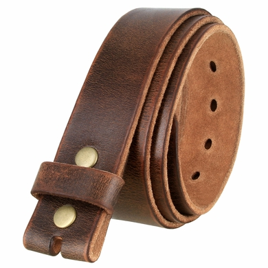 "3840002 One Piece Genuine Full Grain Vintage Distressed Leather Belt Strap 1-1/2""(38mm) Wide"