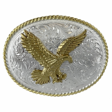 American Eagle Western Design Trophy Belt Buckle H8170-GSP