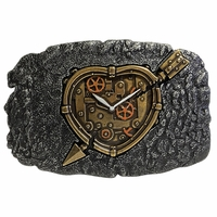 Arrow Heart Clock Belt Buckle