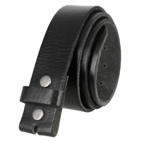 "BS040 Vintage Full Grain Leather Belt Strap 1 1/2"" Wide - Black"