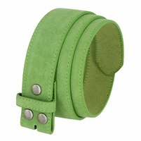 "BS066 Green Suede Leather Belt Strap 1 1/2"" Wide"