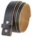 "BS085 Full Grain Tooled Leather Belt Strap 1-1/2"" wide - Black"