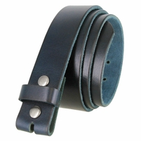 "BS040 Vintage Full Grain Leather Belt Strap 1 1/2"" Wide - Navy"