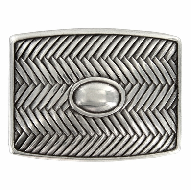 Crossweave Oval Center Belt Buckle 100145-35
