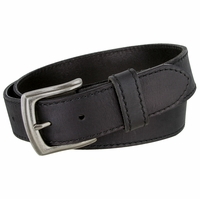 "3926051 Men's Full Grain Leather Casual Jean Belt 1-1/2"" wide - Black"