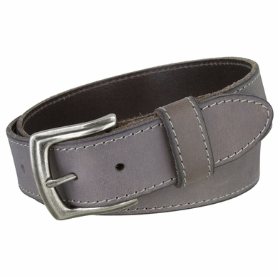 3926051 Men's Full Grain Leather Casual Jean Belt - Grey